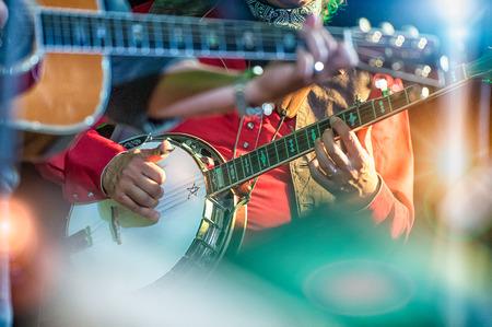 Banjo hráč v country kapela