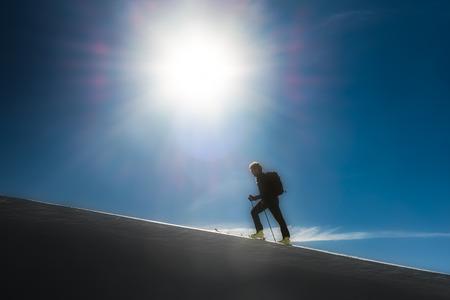 alpinism: Climb ski alpinism