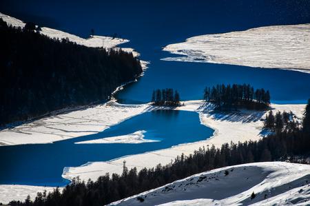 Large alpine lakes thaw photo