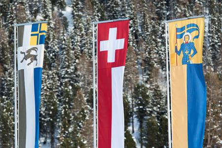 swiss flag: Swiss flag graubunden