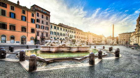 navona: Piazza Navona, Rome. Italy Stock Photo