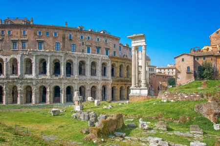 augustus: The theater of Marcellus Rome - Italy Stock Photo