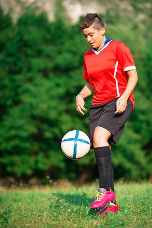 Woman footballer