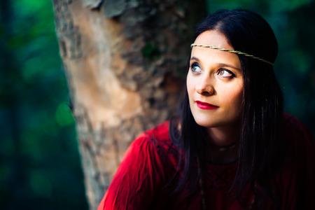 hippie girl: Portrait of hippie girl