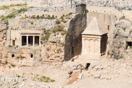 tumbas: Tumbas de Absalón y Zacarías en Jerusalén