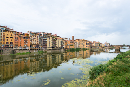 arno: Florence, view of the river Arno Stock Photo