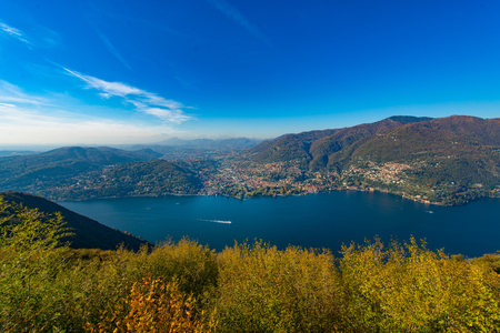 lake: Lake Como view from top
