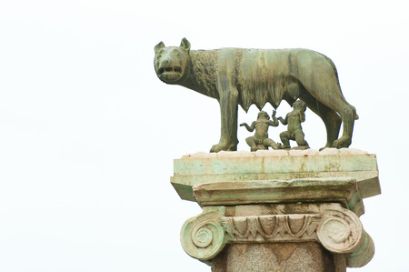 lupa: The Lupa Capitolina The wolf of Rome copy outside the Capitol Stock Photo