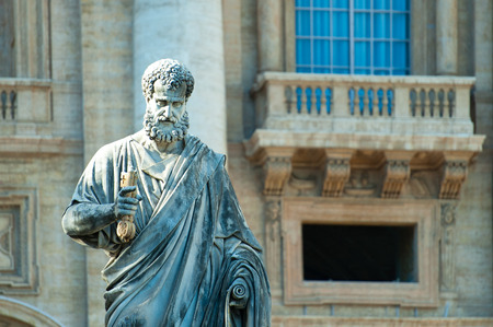 key of paradise: Large statue of St. Peter.  In the same square name at the Vatican