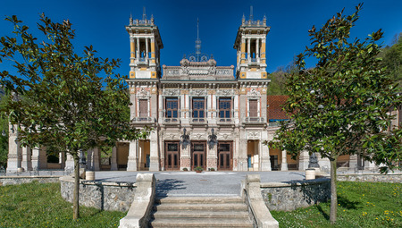 Municipal Casin of San Pellegrino Terme Bergamo Italy Editorial