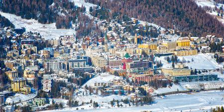View of St. Moritz in winter