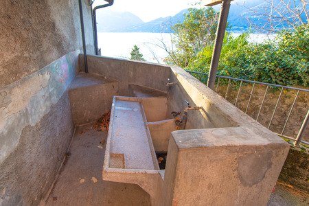 washboard: Old washboard in Italy
