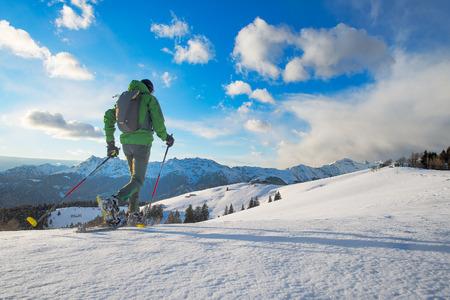 놀라운 자연 겨울 풍경을 산책.