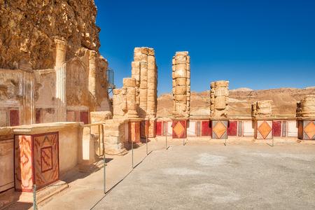 masada: The palace of King Herods Masada. The ruins