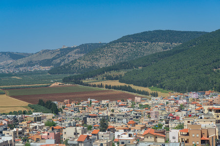 galilee: Village of Galilee under Mount Tabor places of Jesus preaching