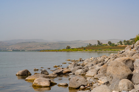 preaching: The shores of Lake Tiberias in Galilee Place of preaching and miracles of Jesus