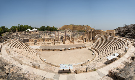 Beit Shean theater.  Beit Beit Shean is one of the Northern District city of Israel Stock Photo