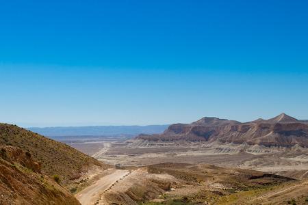 negev: Road in the Negev desert in Israel Stock Photo