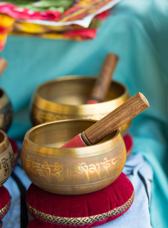singing bowls: Tibetan bells for sale to yoga markets