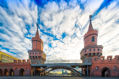 Detail of Oberbaumbr������¼cke in Berlin Stock Photo