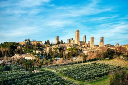 Heiliger Gimignano. mittelalterliche Stadt in der Toskana Italien. Genannt das Manhattan des Mittelalters