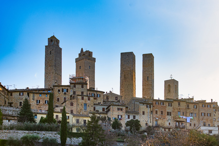 The medieval village of San Gimignano in tuscany Italy