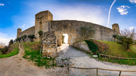 The Castle of Monteriggioni in the province of Siena Italy.