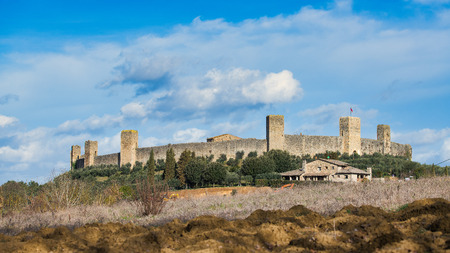 Monteriggioni The Castle. province of Siena Tuscany Italy Editorial