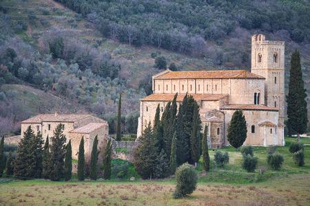 Abbey of SantAntimo in Tuscany Italy