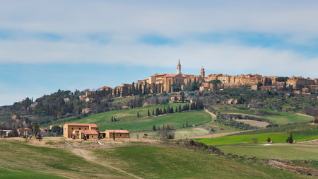Pienza. landscape in Tuscany. Italy, Valle dorcia