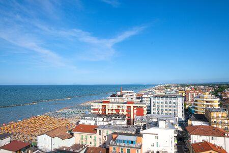 View of Bellaria - Igea marina. On the Adriatic coast