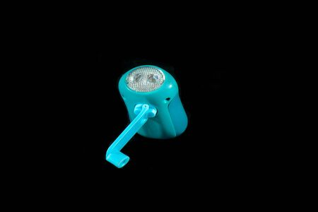 Small led lamp with hand recharge