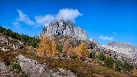 Autumn landscape on the Swiss alps