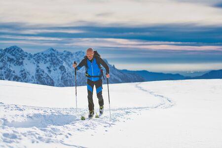 Ski De Randonnée on the Alps plateau