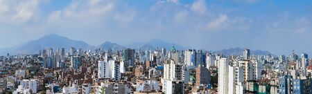 The city of Lima in Peru under the mountains