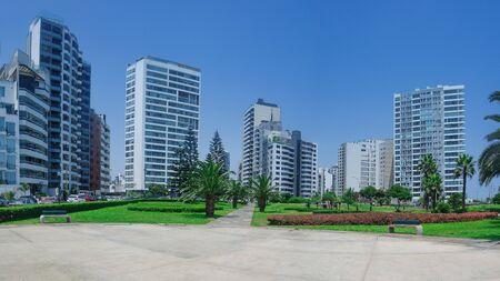 Skyscrapers in the Miraflores district in Lima Peru