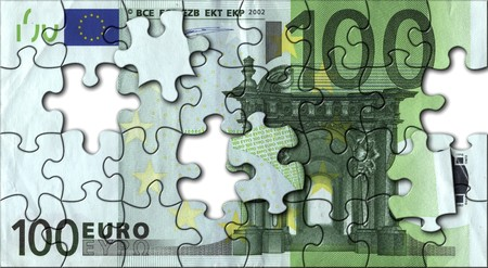 jigsaw of hundred euro photo