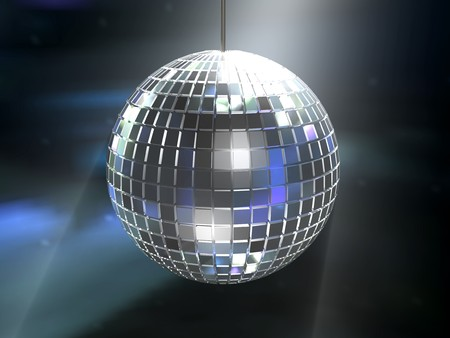 discoteque: mirrored disco ball Stock Photo