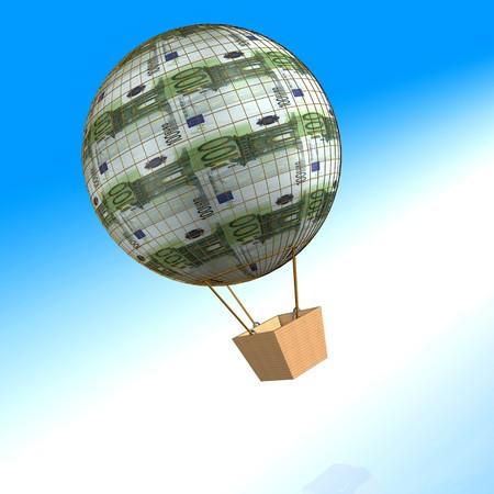 air ballon of hundred euro photo