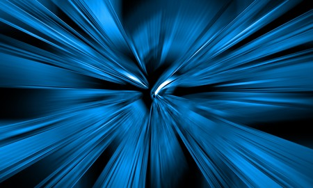 laser lights: sci-fi abstract background with blue laser lights Stock Photo
