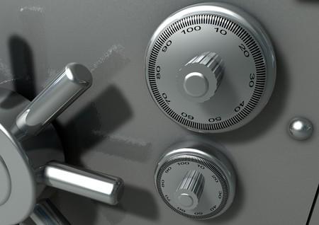 Closeup of a bank vault