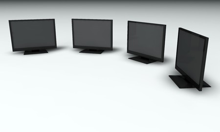 rendered monitors photo
