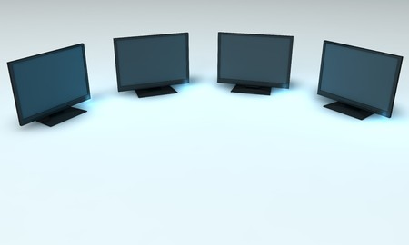 rendered monitors Stock Photo - 4409177