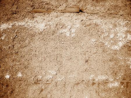 Old style sepia tone wall photo
