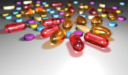 deleterious: Closeup of pills Stock Photo