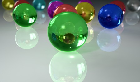colorful marbles of glass photo