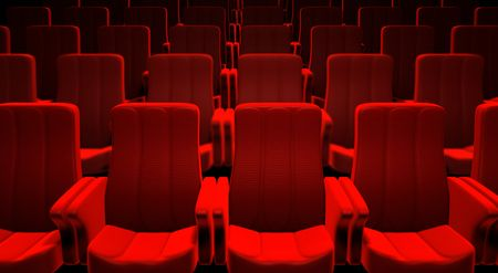 seats: 3d picture of red cinema seats