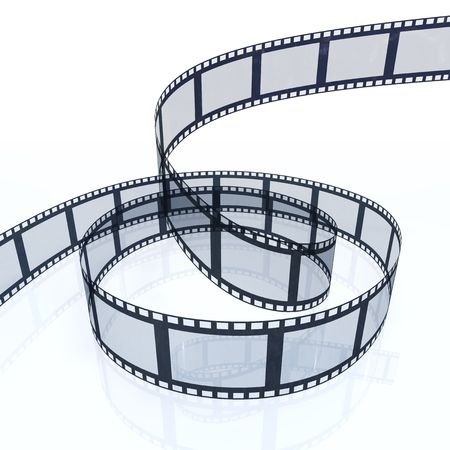 3d image of a filmstrip isolated on white background Stock Photo - 5631434