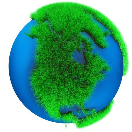Earth Globe with grass view of North America Stock Photo - 5631511