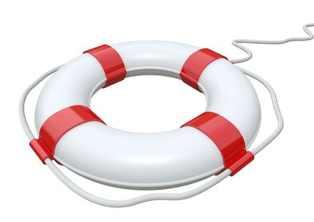 life saver: Red and white life belt